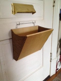 Mail Slot Catcher A Prettier Solution To A Wire Guard To