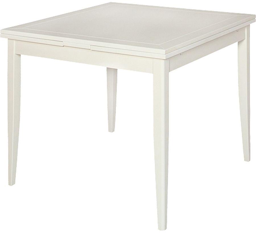 Mesa de comedor cuadrada extensible Eneko blanco | Muebles ...