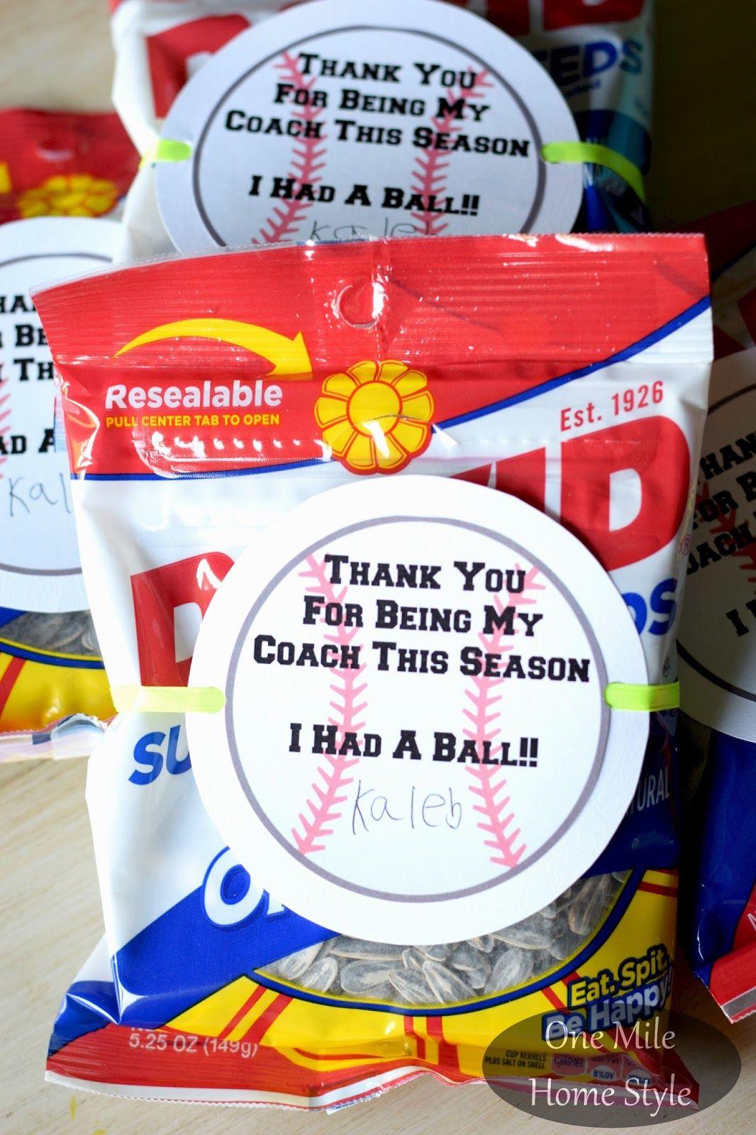 Photo of End of the Baseball Season Coach's Gift