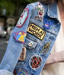 Emoiji stickers and jeans jacket | Jacke mit patches, London