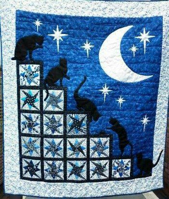 Cats at night Source: http://www.all-about-quilts.com/quilt ... : about quilting com - Adamdwight.com