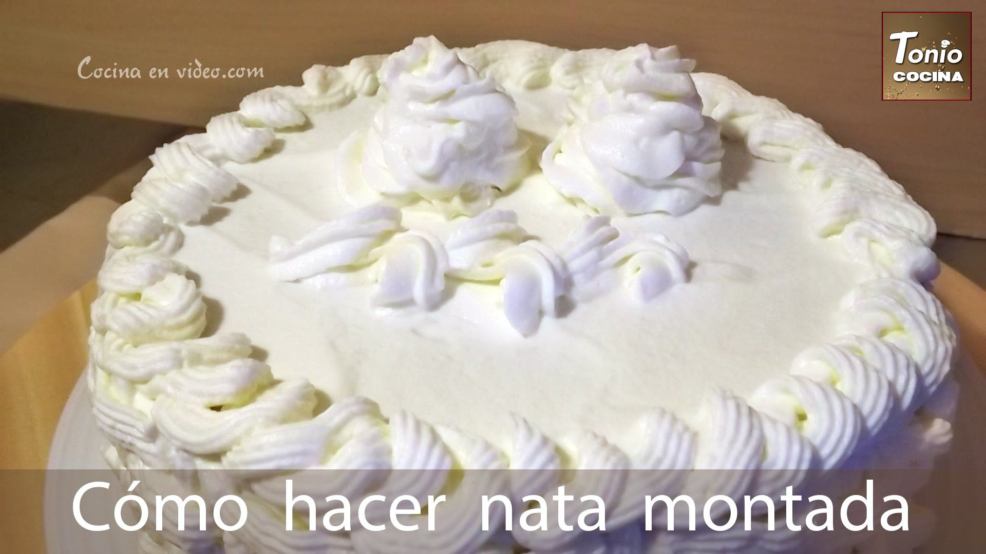 como hacer nata montada