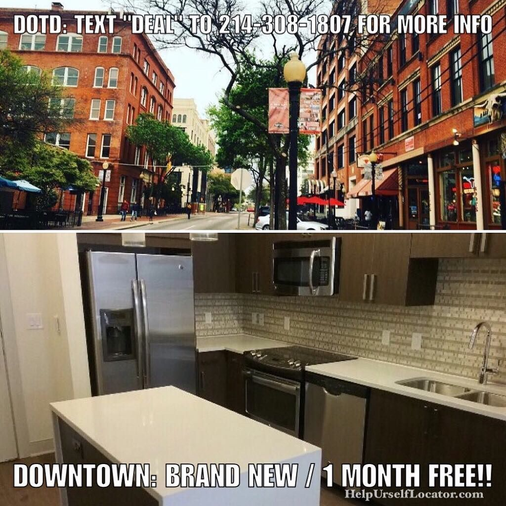Deal Of The Day: DOWNTOWN: New Construction 1 MONTH FREE