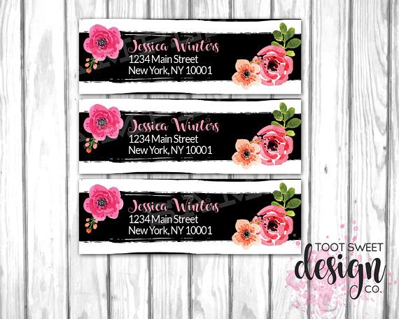 Lipsense Address Labels, Lipsense by Senegence, Return Label for - mailing address labels template