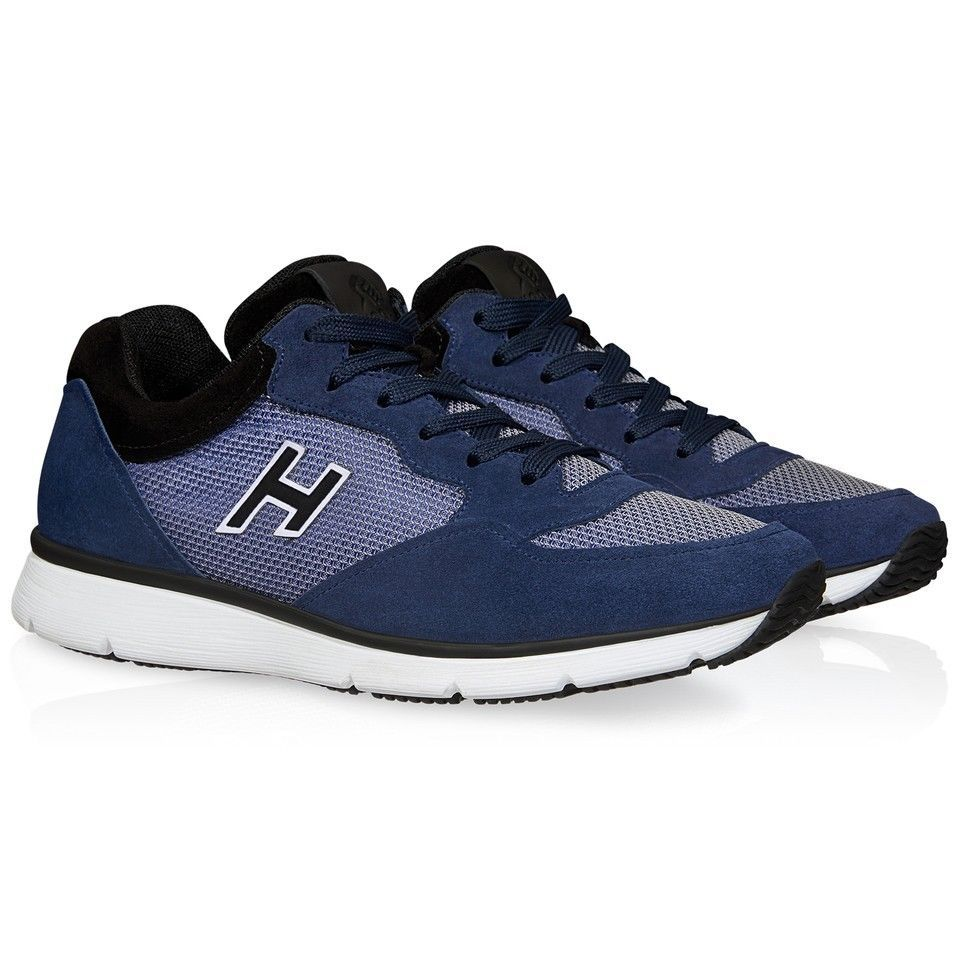 a7a68ff1272e3 eBay  Sponsored Hogan sneakers shoes in blue suede with high-tech fabric  inserts Size