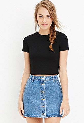 Heathered Crop Top | Forever 21 - 2000146521