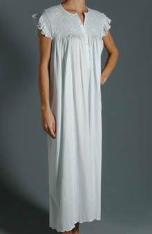 P-Jamas Daisy Smocked Cap Sleeve Nightgown DAISY  05fcfce5a