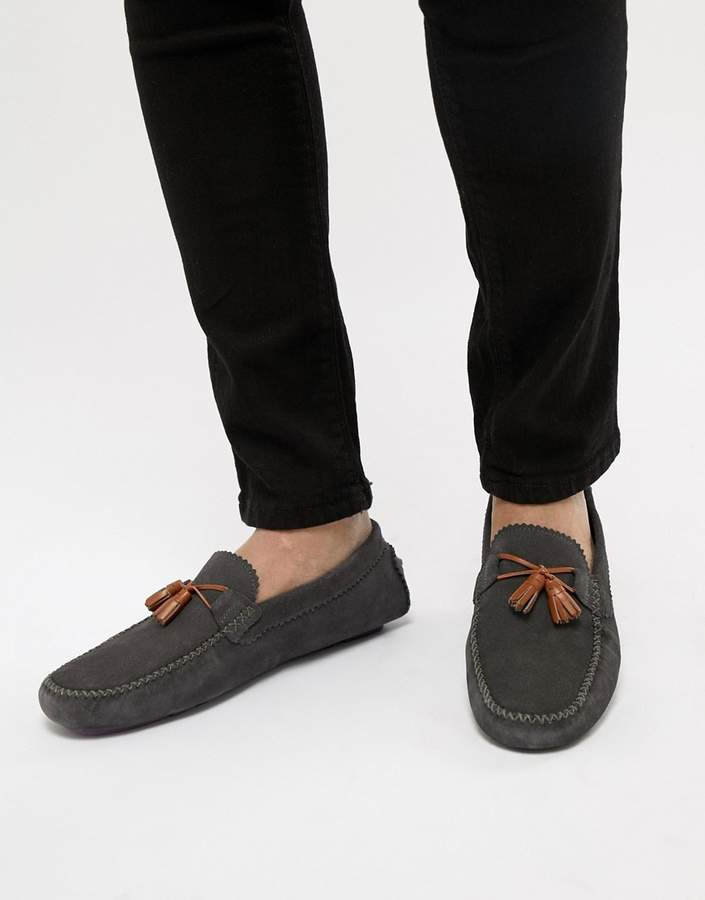 a52070191f0 Ted Baker Urbonns Suede Loafers In Gray