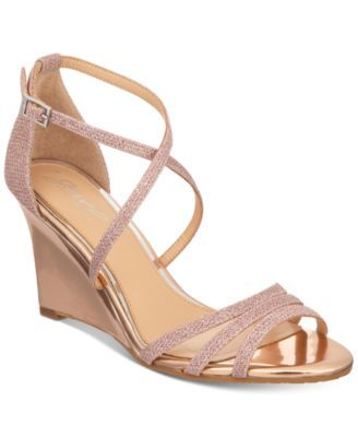 b4d54f843b5 Jewel Badgley Mischka Hunt Evening Wedge Sandals