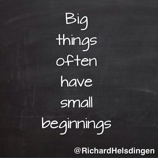 Big things often have small beginnings. #instaquote #quote