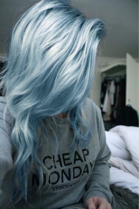 Hairstyles Beauty Fashion Pastel Blue Hair Blue Grey Hair Light Blue
