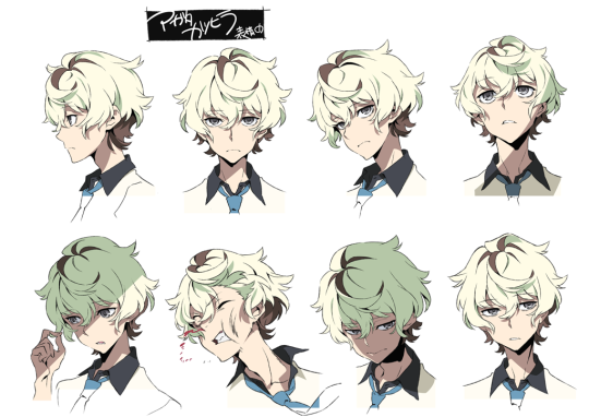 Kurokite Anime character design, Character design
