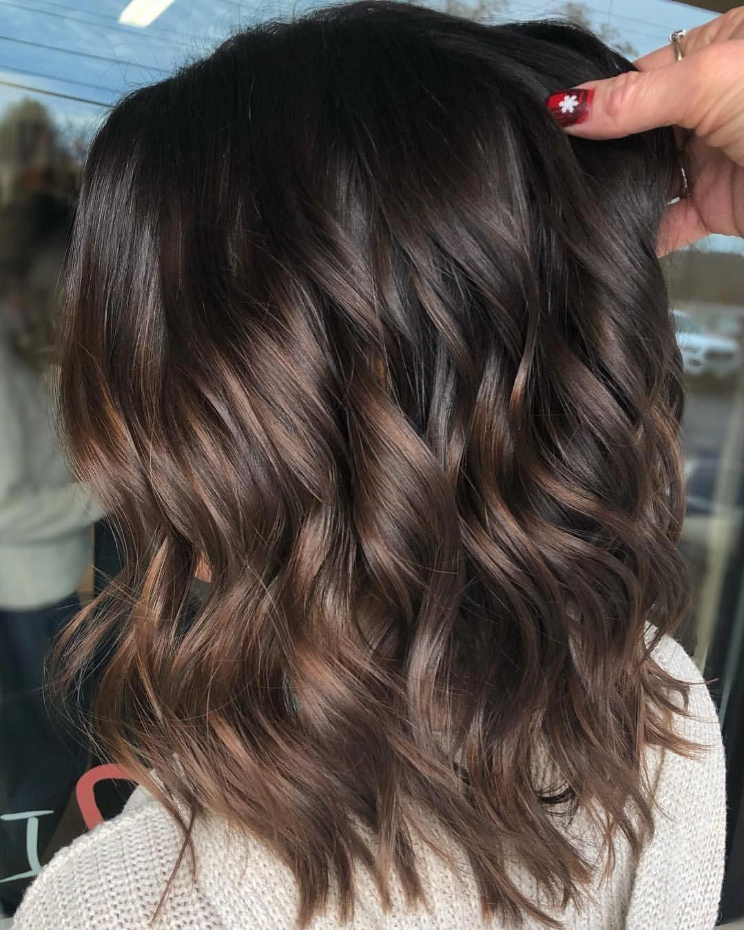 Thin Hair Color Ideas Hair Color Ideas Color Ideas Haircolorideas Brownhairbalayage With Images Brunette Balayage Hair Short Ombre Hair Short Hair Balayage