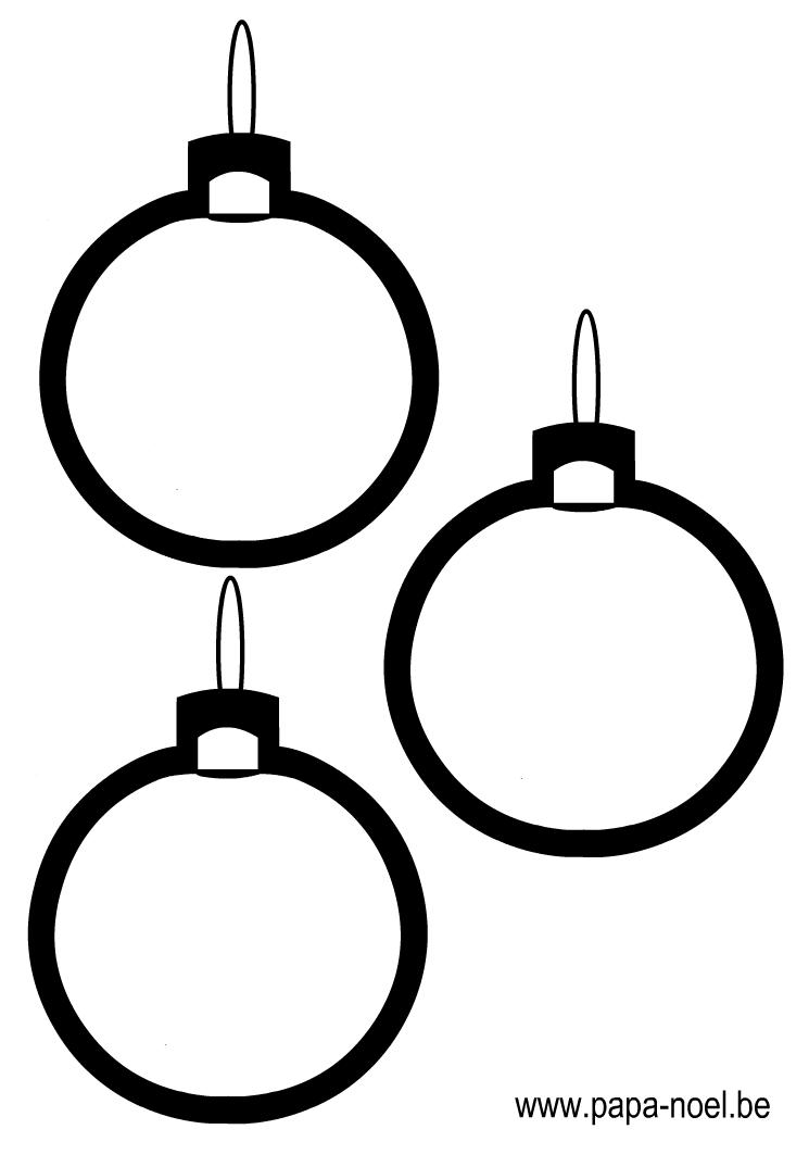 Dessin De Boule De Coloriage De Boule De Noel Gratuit à