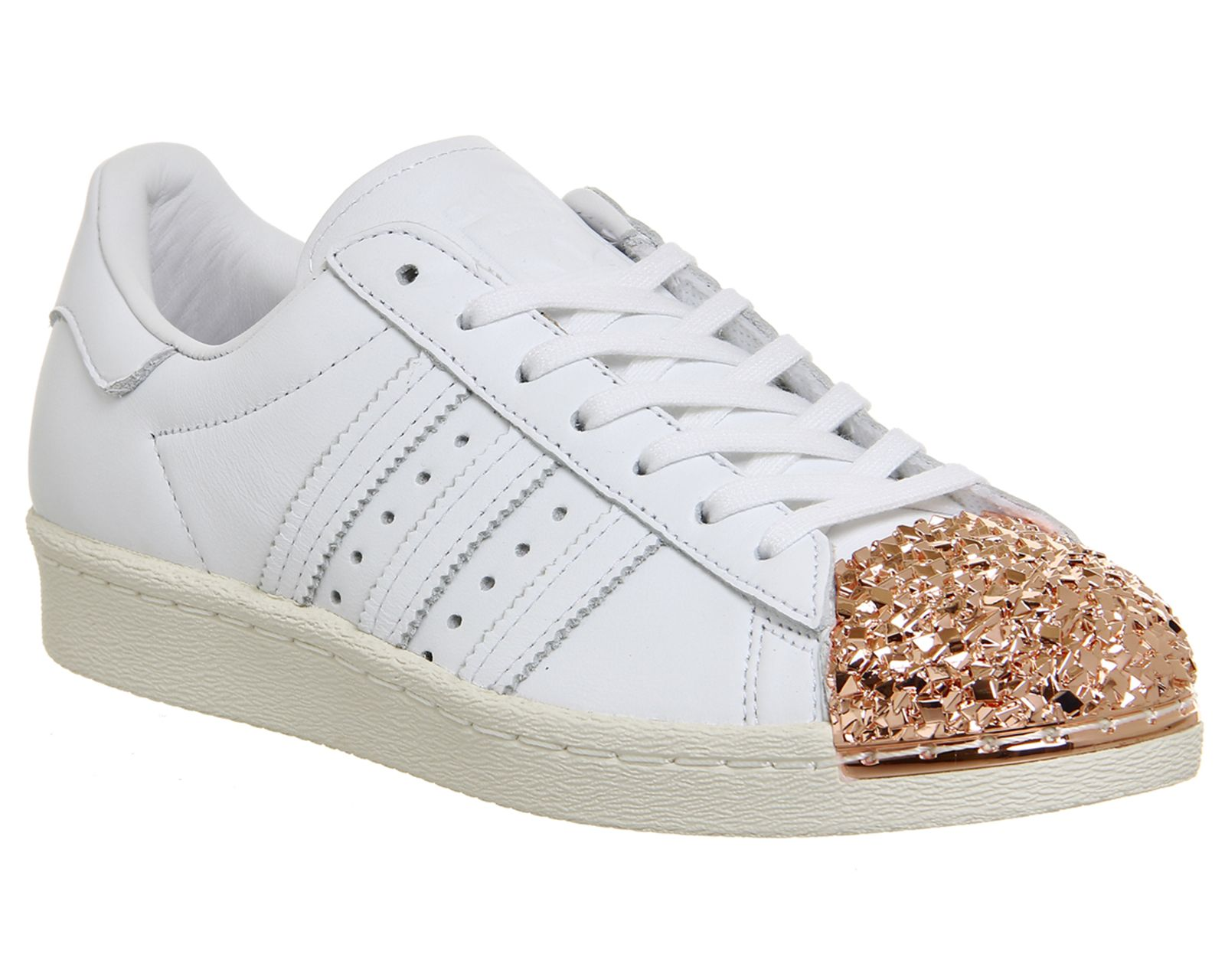Adidas Superstar 80's Metal Toe White Shattered Mirror Gold 3d