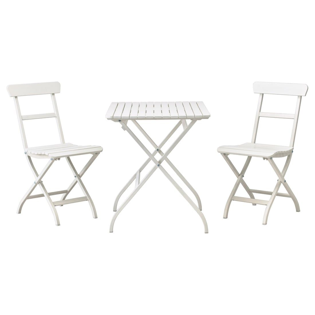 MÄLARÖ Asztal+2 szék, kültéri, fehér IKEA | Ikea exterior
