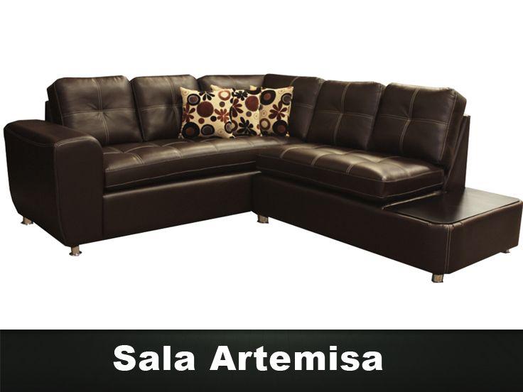 Sala artemisa en esquina de 2 piezas muebles para sala for Muebles modernos df