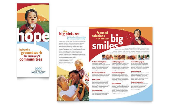 Community Non Profit Brochure Template Design By StockLayouts BHK