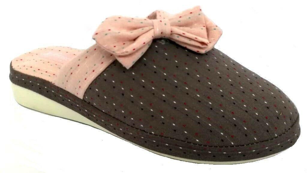 Photo of DE FONSECA ciabatte pantofole donna cotone mod. VERONA E W642 grigio slippers  -…