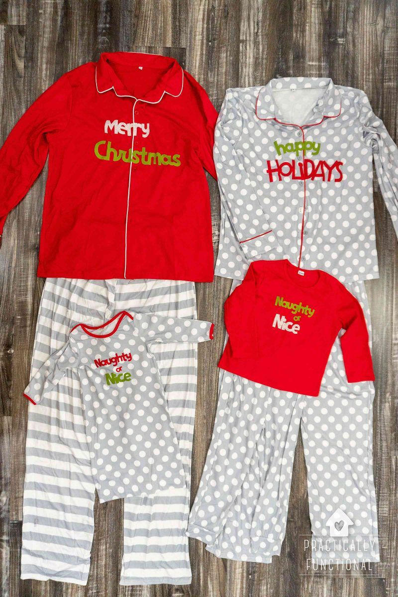 Matching family Christmas pajamas are super popular (and very cute!)! This  year I decided to DIY them and love how they turned out! 58b20322b