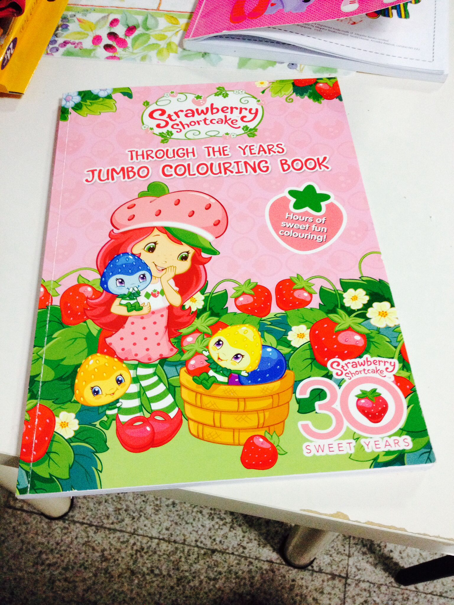 The main cover page | Strawberry Shortcake 30th Sweet Years Coloring ...