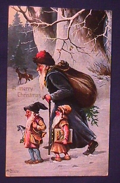 Santa With Elves Christmas Images Pinterest Elves