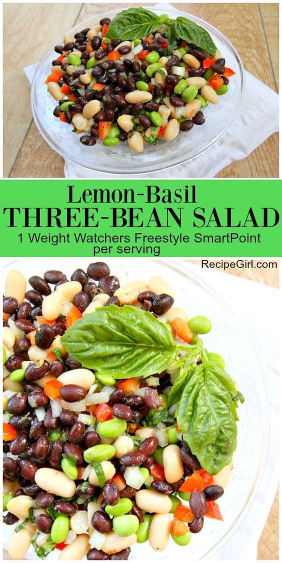Lemon Basil Three Bean Salad recipe from RecipeGirl - potluck sign up sheet template