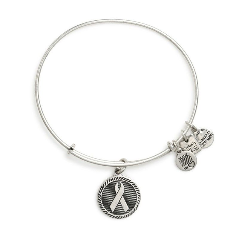 For My Mom T Cancer Survivor Ribbon Of Strength Charm Bangle