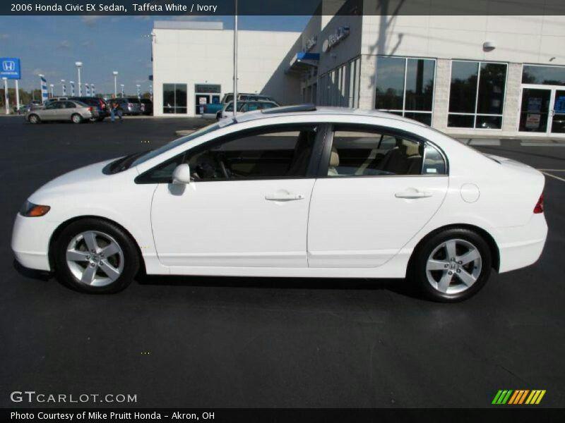 White 2006 Honda Civic Ex Sedan