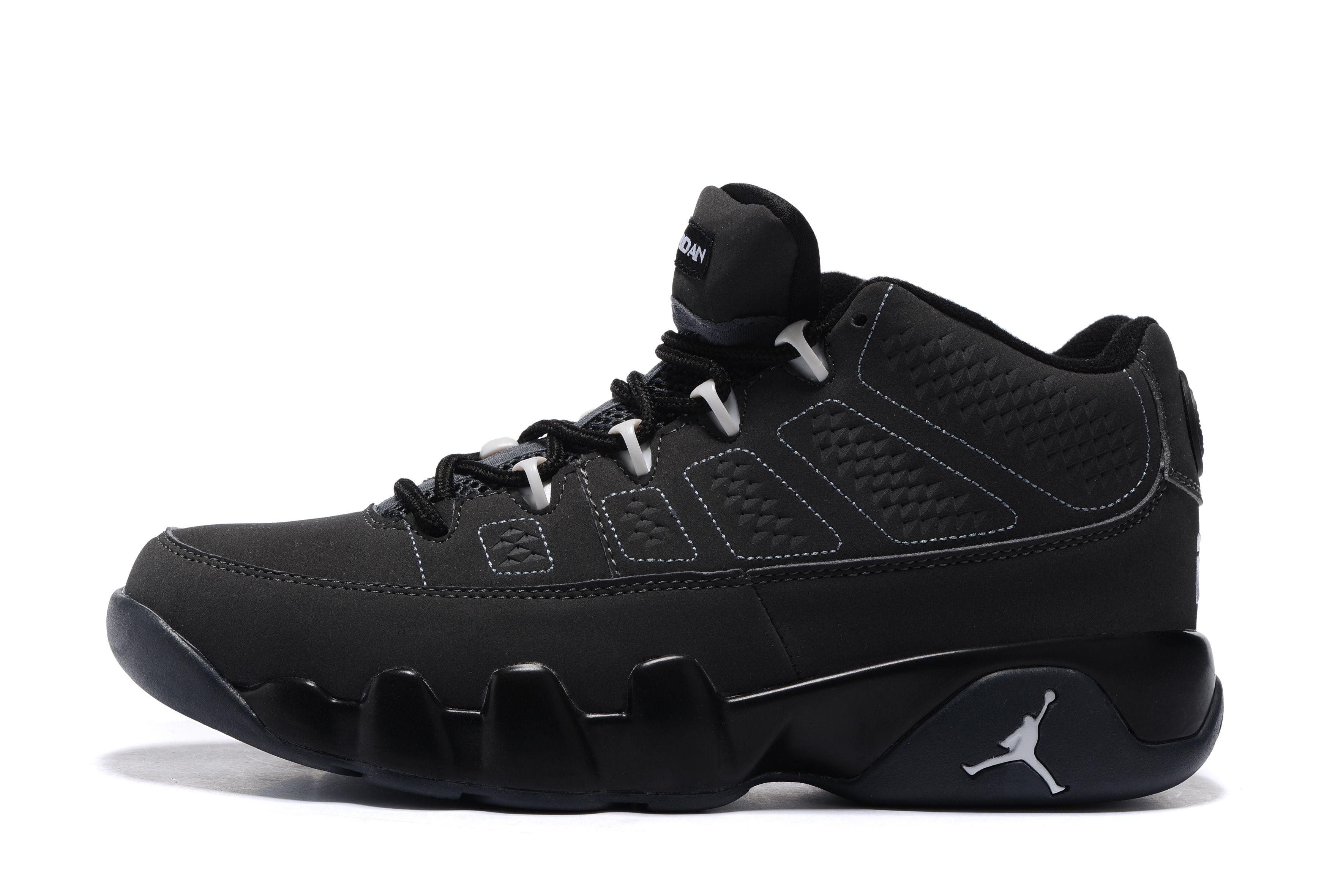 Factory Nike Air Jordan 9 Retro Low Black White Sport