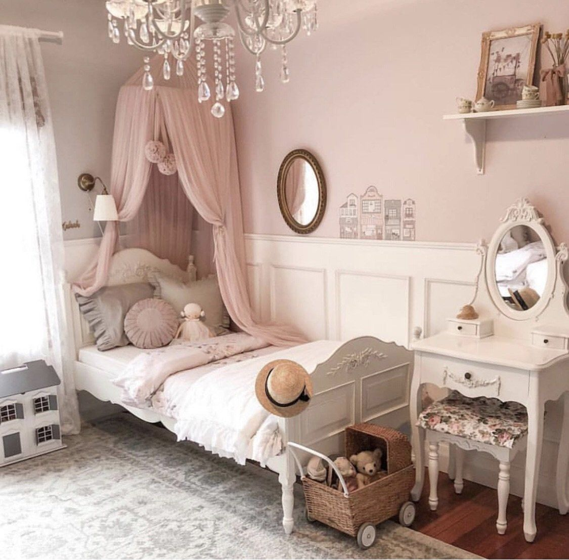 Dreamy Canopy Champagne in 2020 Big girl bedrooms