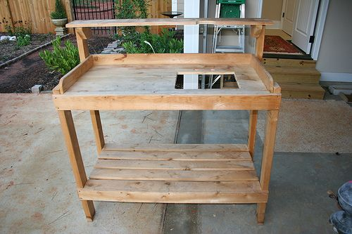 potting bench plans google search gardening pinterest