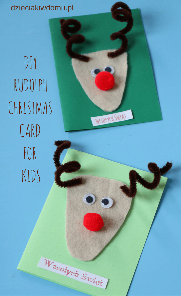 Diy Christmas Card Dyi Kids Crafts Christmas Crafts For Kids Christmas Crafts