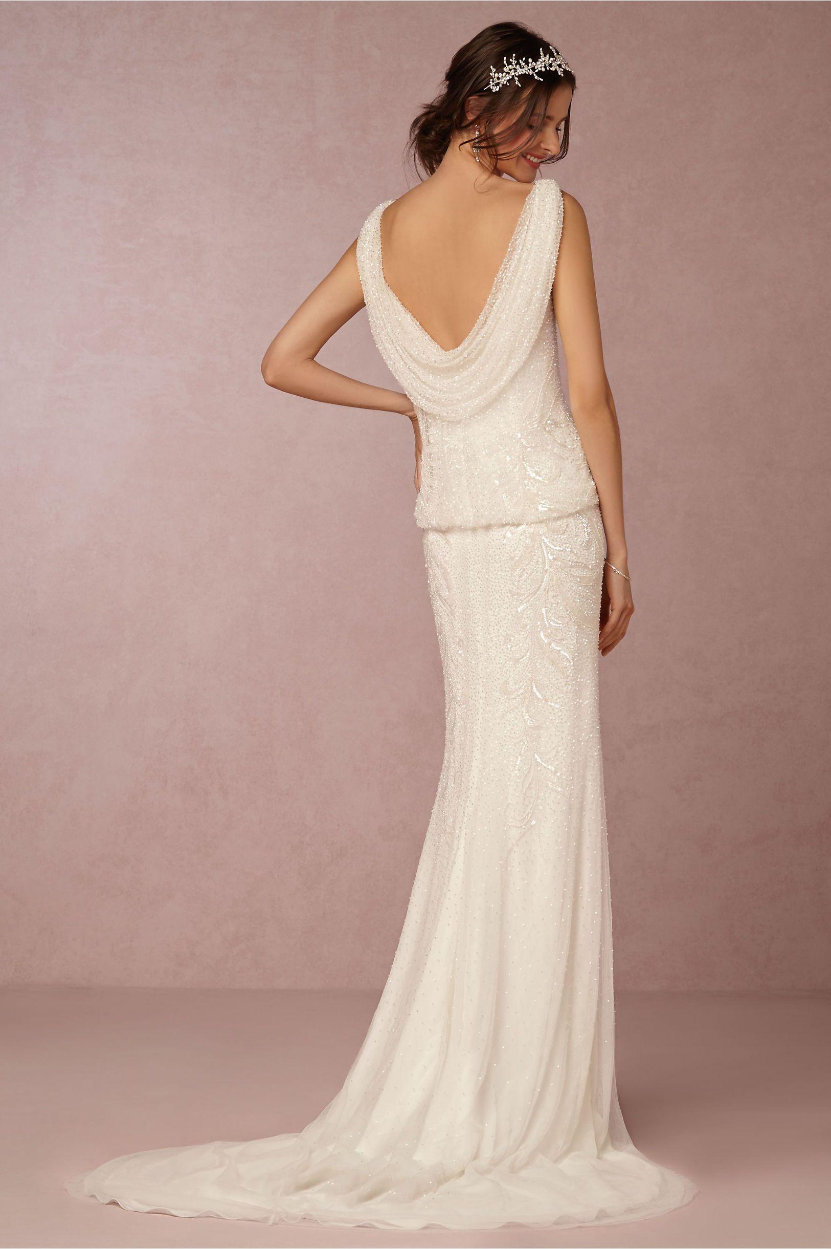 vintage-inspired gatsby wedding dress | Arabella Gown from BHLDN ...