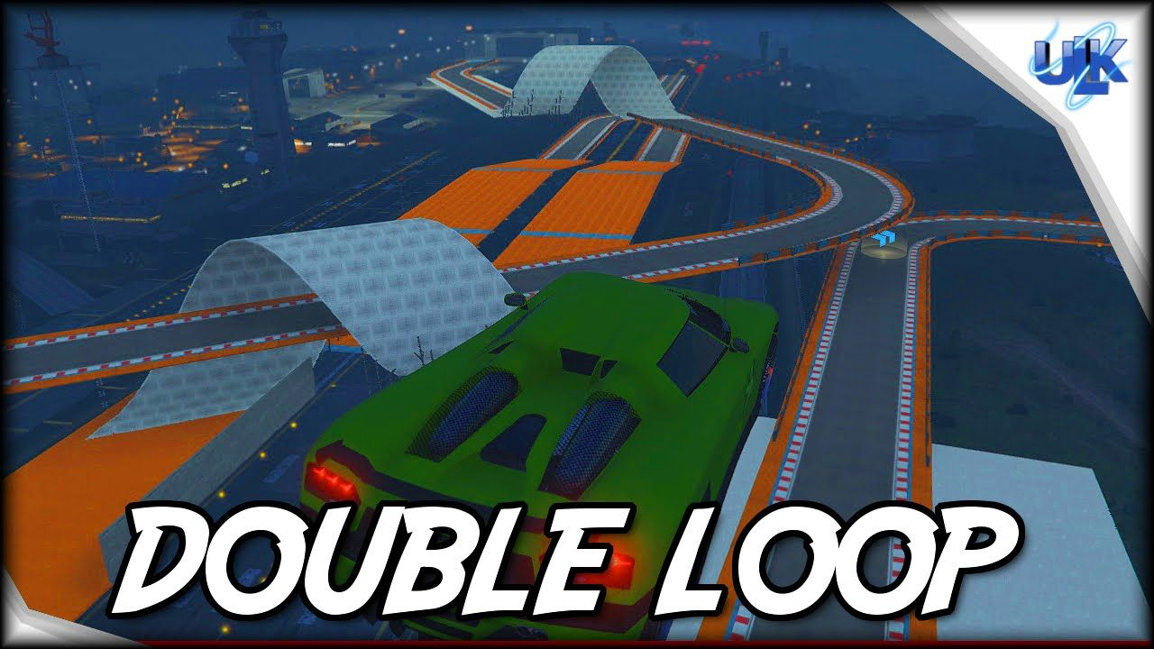 GTA 5 Cunning Stunts New Races Double Loop 3/11 Stunts