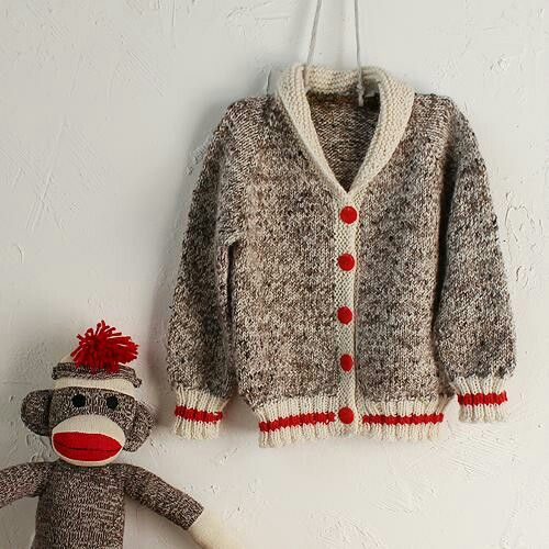Sock Monkey Sweater Knit One Purl One Pinterest