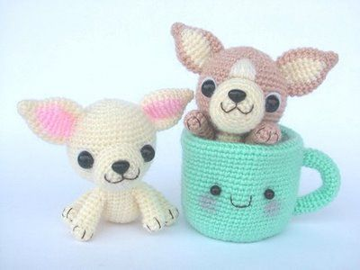 Crochet Chihuahuas And Mug Crochet Pets Dogscatsbirds
