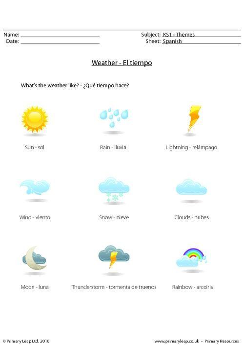 spanish weather worksheet weather el tiempo seasons las estaciones. Black Bedroom Furniture Sets. Home Design Ideas