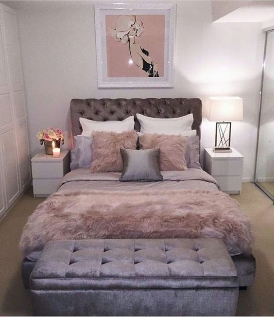 42 Chic Pink And Grey Bedroom Decorating Ideas For Girls Bedroom