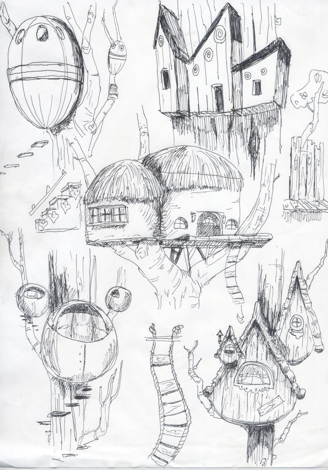 bryan sims: creative perspective part 1 treehouse thumbnails | archi