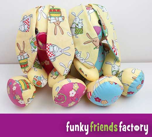 Easter Bunny Sewing Pattern is ready! | Funky Friends Factory ...