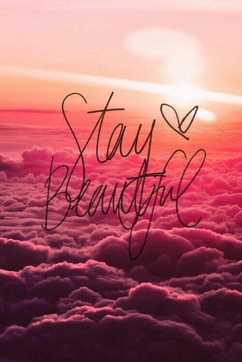 Stay beautiful (With images) Iphone wallpaper girly
