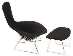 Beau Knoll   Bertoia Bird Lounge Chair And Ottoman | Modern Furniture | Zinc  Details