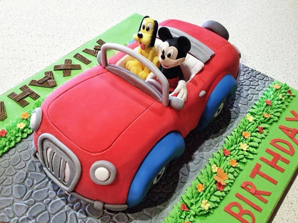 Mickey and Pluto on a spring ride