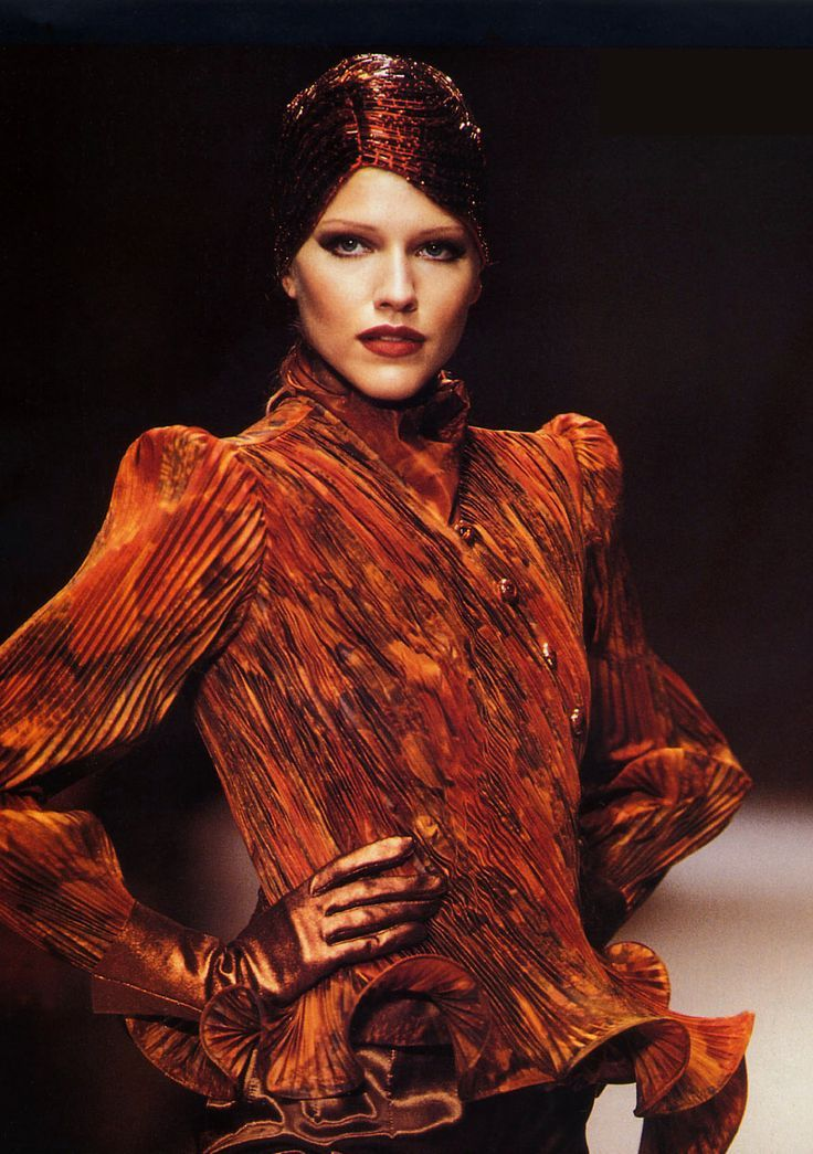 jean louis scherrer couture fall 1996 paris tricia helfer 90s runway catwalk pinterest. Black Bedroom Furniture Sets. Home Design Ideas