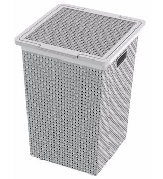 Dkw Saan Grey Laundry Basket With Lid Grey Laundry Basket