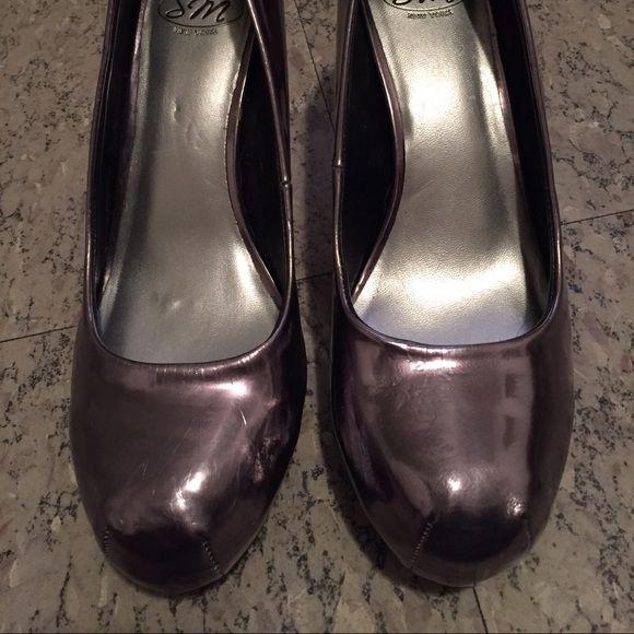 Metallic gray heels Metallic gray heels Sm new york  Shoes Heels