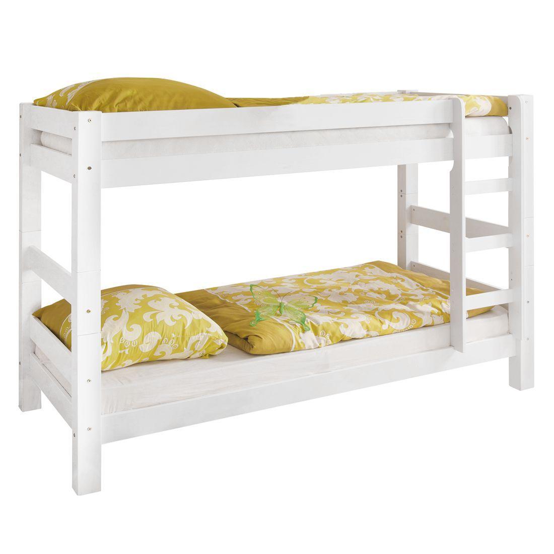 Kinderzimmer ohne bett etagenbett jan  kiefer massiv  weiß ticaa jetzt bestellen unter