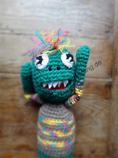 Oliver das Amigurumi-Monster   Amigurumi von MamaMau   Pinterest ...