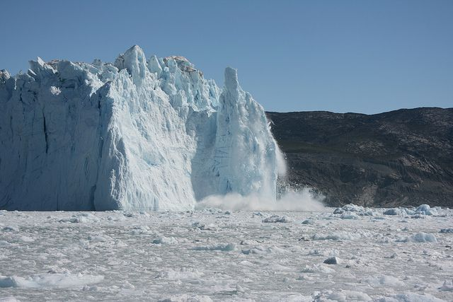 Eqi glacier calving   Flickr - Photo Sharing!